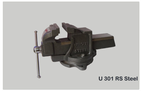 Unbreakable Steel Bench Vice ,Swivel Base Code No.U301RS STEEL