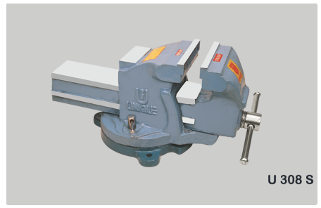 Super Heavy Duty Bench Vice (Double Rib) , Swivel Base Code No. U308S