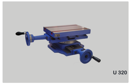 Compound Sliding Table with Calibrated Wheel & Swivelling Table Code NO. U320
