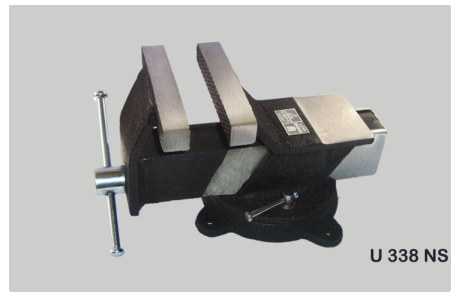 All Steel Bench Vice , Swivel Base Code No. U338NS