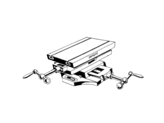 Compound Sliding Table with Calibrated Wheel & Swivelling Table